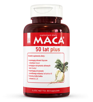 Maca 50 lat Plus - suplement diety
